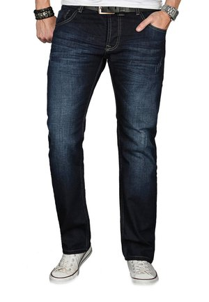 A. SALVARINI  - Straight leg jeans - nachtblau