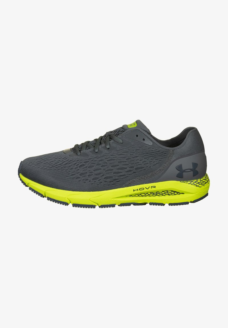 Under Armour - Trainers - pitch gray / green citrine / mechanic blue
