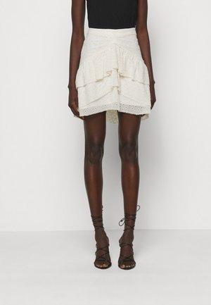 TINOS - Mini skirt - ecru