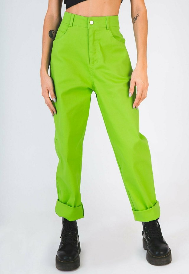 Jeans a sigaretta - verde