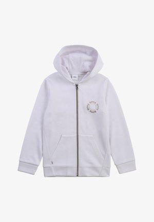 Zip-up hoodie - blanc