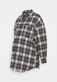 Missguided Maternity - CHECK SHIRT - Button-down blouse - brown - 0
