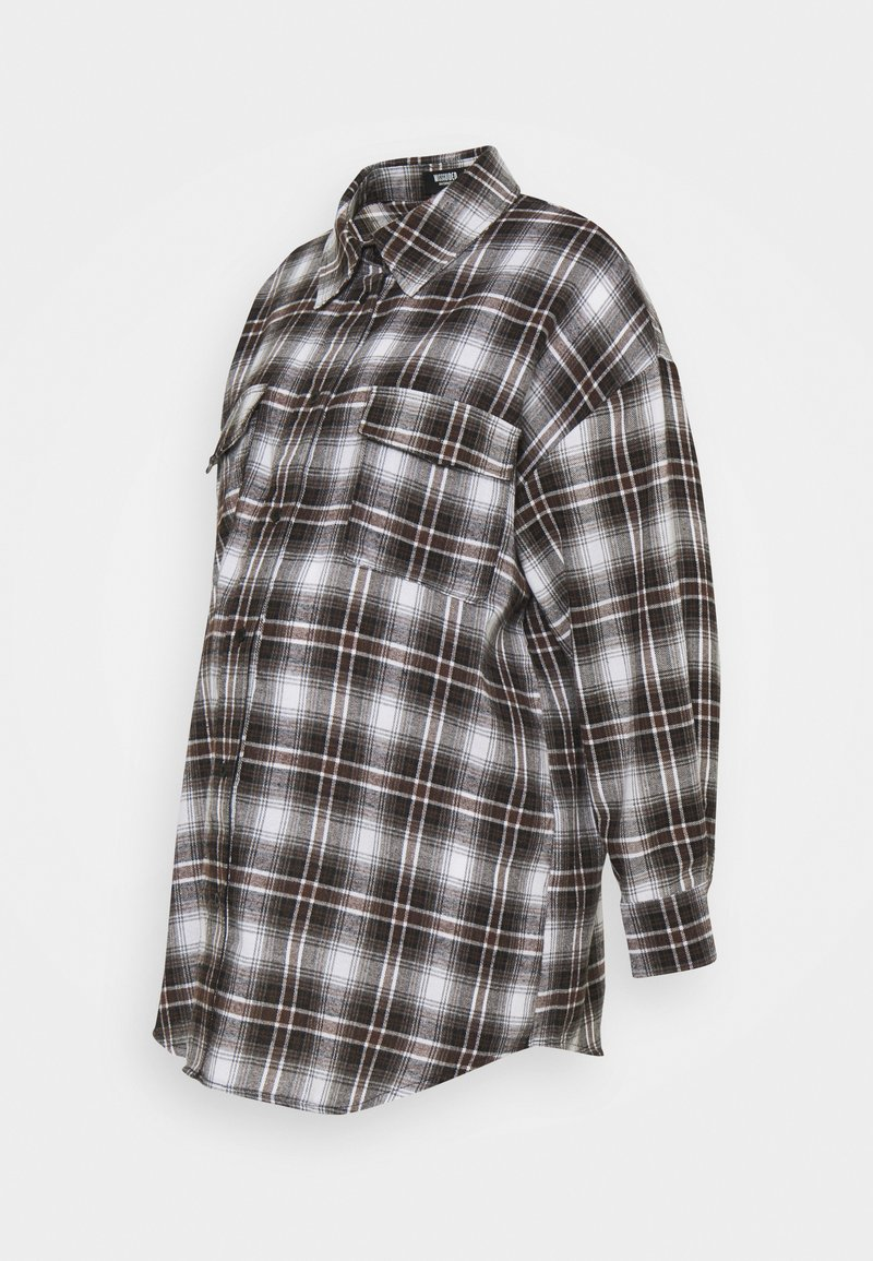 Missguided Maternity - CHECK SHIRT - Button-down blouse - brown
