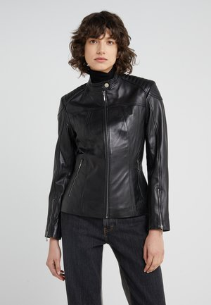 STACEY JACKET - Kožená bunda - black