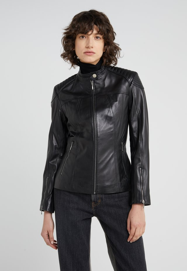 STACEY JACKET - Leather jacket - black