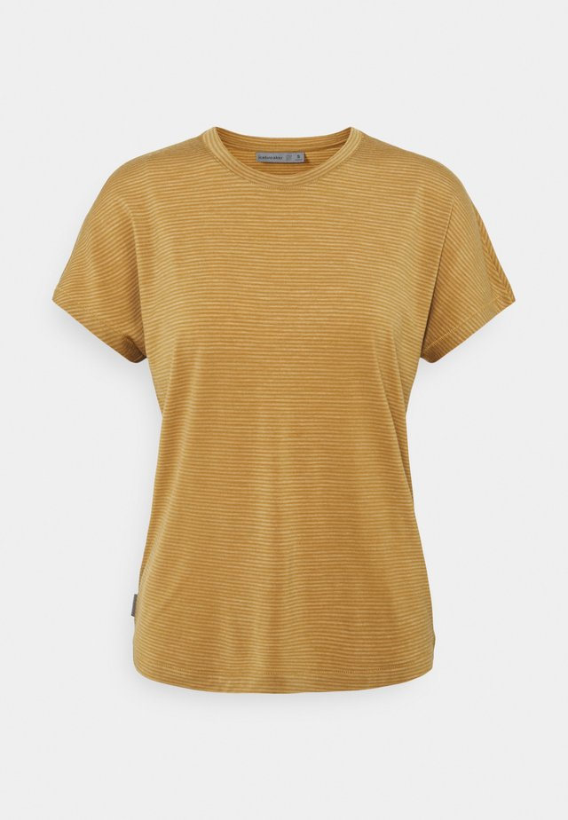 UTILITY EXPLORE CREW STRIPE - T-shirt print - coyote