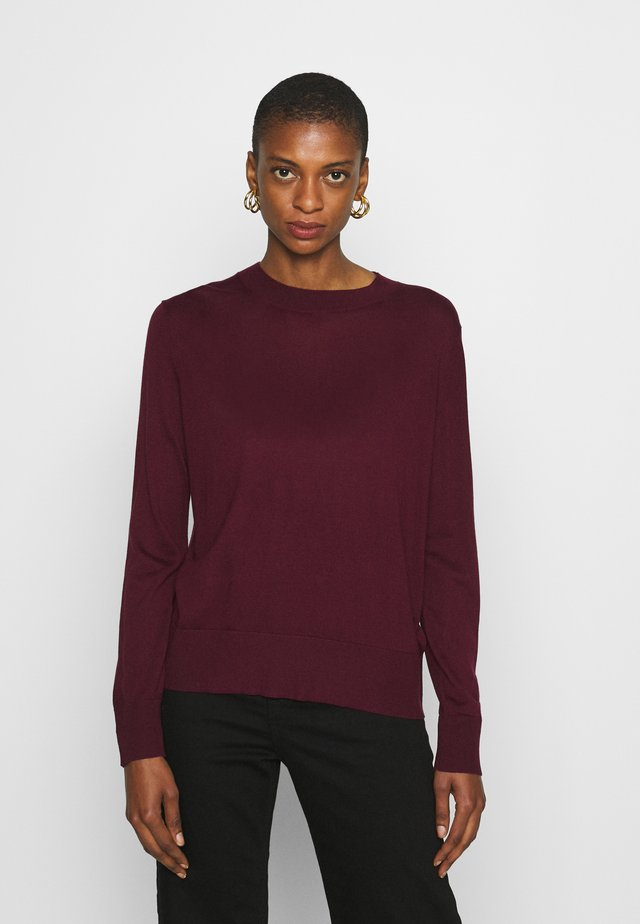 EASY CREW SOLIDS - Jumper - classic burgundy