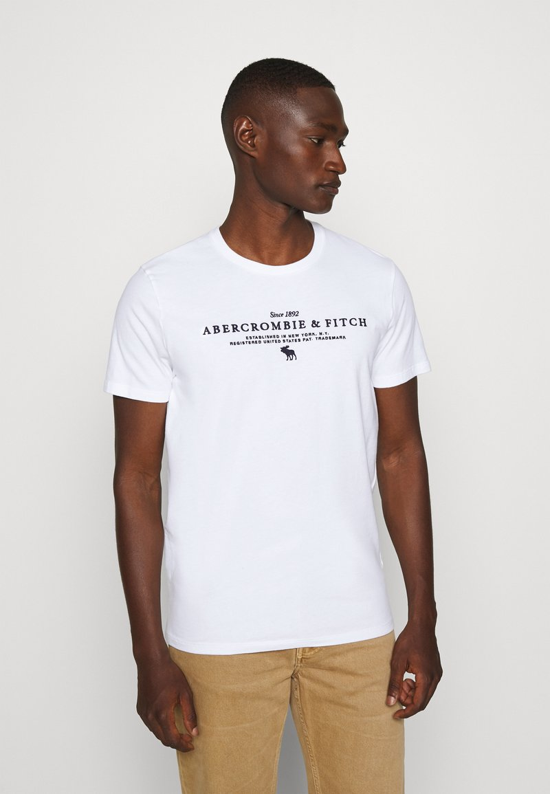 Abercrombie & Fitch - TECHNIQUE LOGO EUROPE - Print T-shirt - white