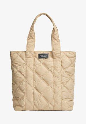 GESTEPPTE UMHÄNGETASCHE - Handbag - beige