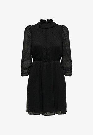 LOCKER GESCHNITTENES - Korte jurk - black