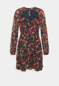 RAGLAN SHOULDER FLOWY DRESS - Denní šaty - black