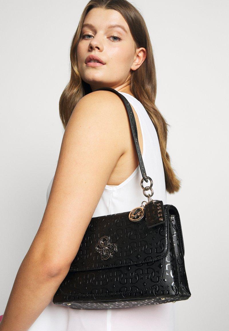 Guess - CHIC SHINE SHOULDER BAG - Handbag - black