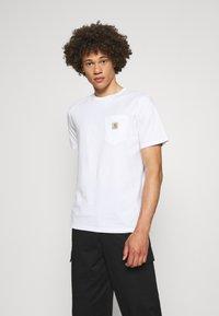 Carhartt WIP - POCKET - Basic T-shirt - white - 0