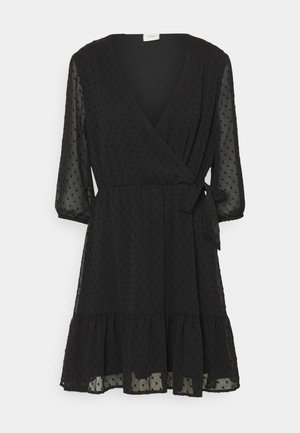 JDYEMILIA WRAP DRESS - Day dress - black