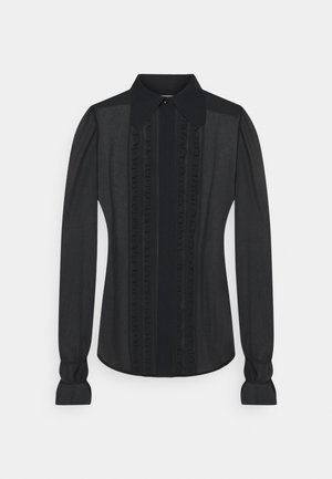 FRILL DETAIL BLOUSE - Skjorte - black