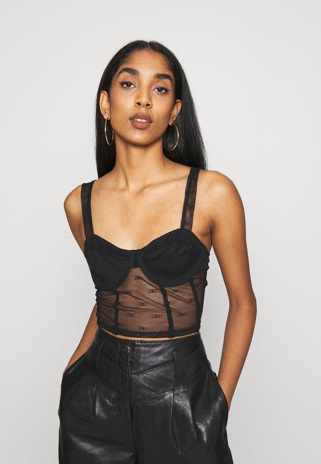 Kaarituelliset rintaliivit - black