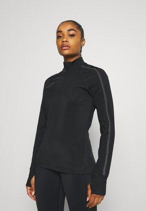 THERMODYNAMIC HALF ZIP REFLECTIVE - Fleece jumper - black