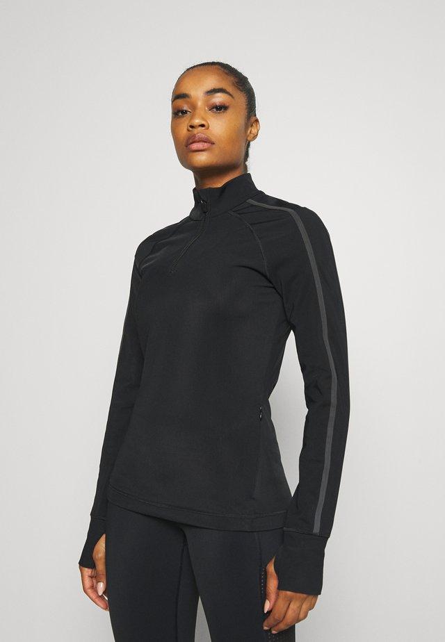 THERMODYNAMIC HALF ZIP REFLECTIVE - Fleece trui - black