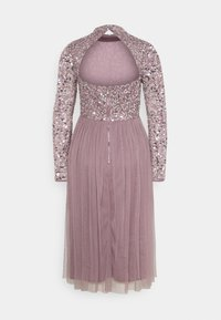 Maya Deluxe - DELICATE SEQUIN MIDI DRESS - Cocktail dress / Party dress - moody lilac - 8
