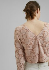 Esprit Collection - LACE SHIRT - Print T-shirt - nude - 7