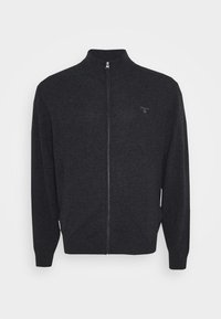 GANT - PLUS EXTRAFINE ZIP CARDIGAN  - Kofta - antracit melange - 5