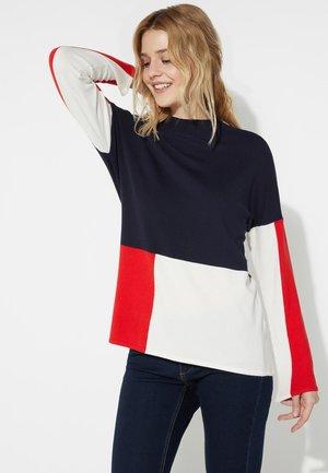 Long sleeved top - blu/latte/rosso