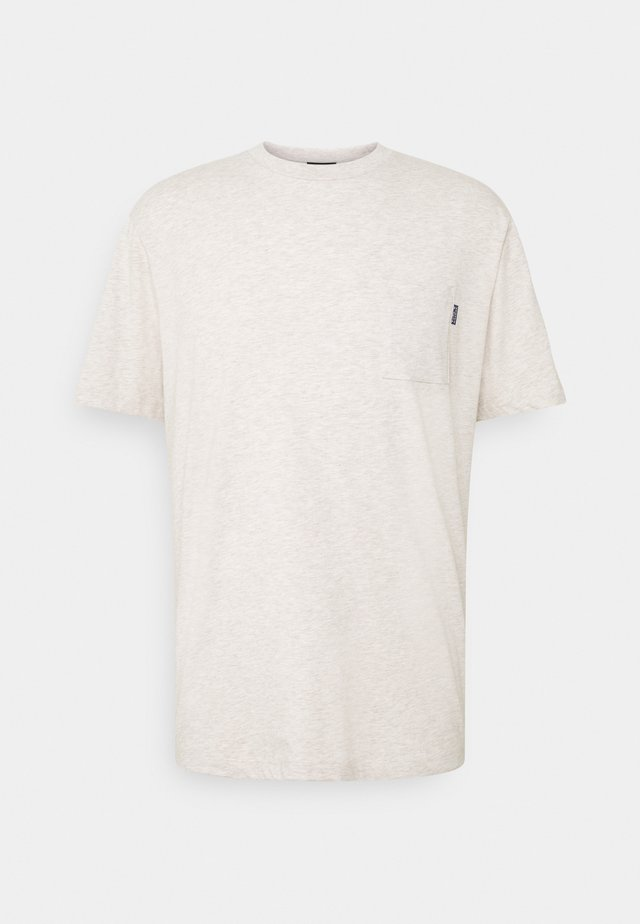 CHEST POCKET - Camiseta básica - grey melange