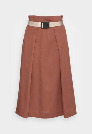 ELENA SKIRT - A-line skirt - chocolate fondant