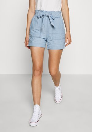 VMEMILY POCKET - Shorts - light blue denim