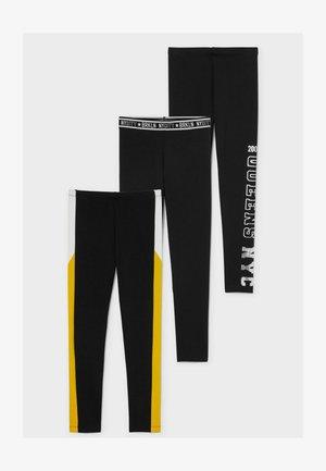 Leggings - Hosen - black/yellow
