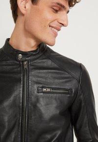 Selected Homme - CLASSIC JACKET - Veste en cuir - black - 5