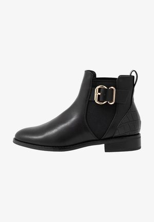 ONLBOBBY ELASTIC BUCKLE - Ankle boots - black