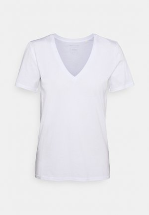 SHORT SLEEVE V NECK - Basic T-shirt - white