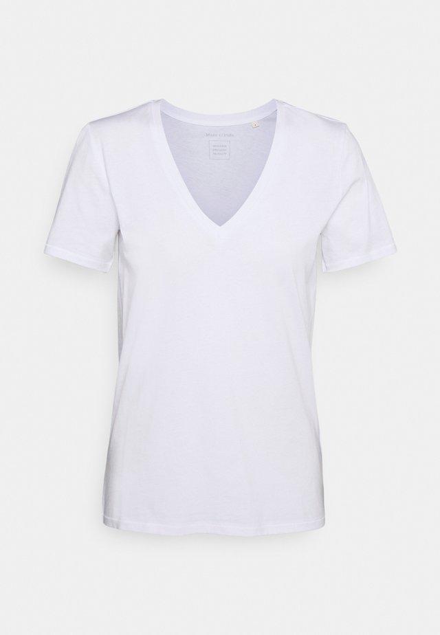 SHORT SLEEVE V NECK - T-shirt basique - white