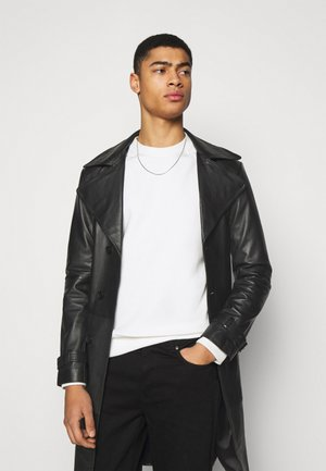 CHRISTIAN LEATHER COAT - Giacca di pelle - black
