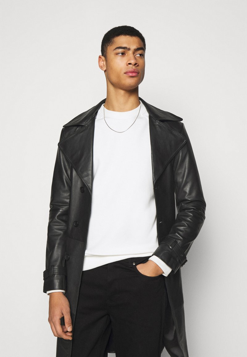 STUDIO ID - CHRISTIAN LEATHER COAT - Leather jacket - black