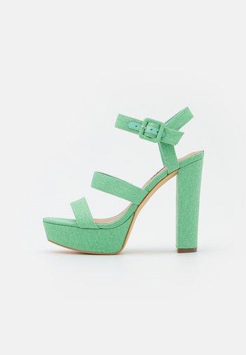 RAYONA - Platform sandals - mint