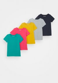 Friboo - 5 Pack - T-shirt z nadrukiem - berry/light grey/turquoise - 2