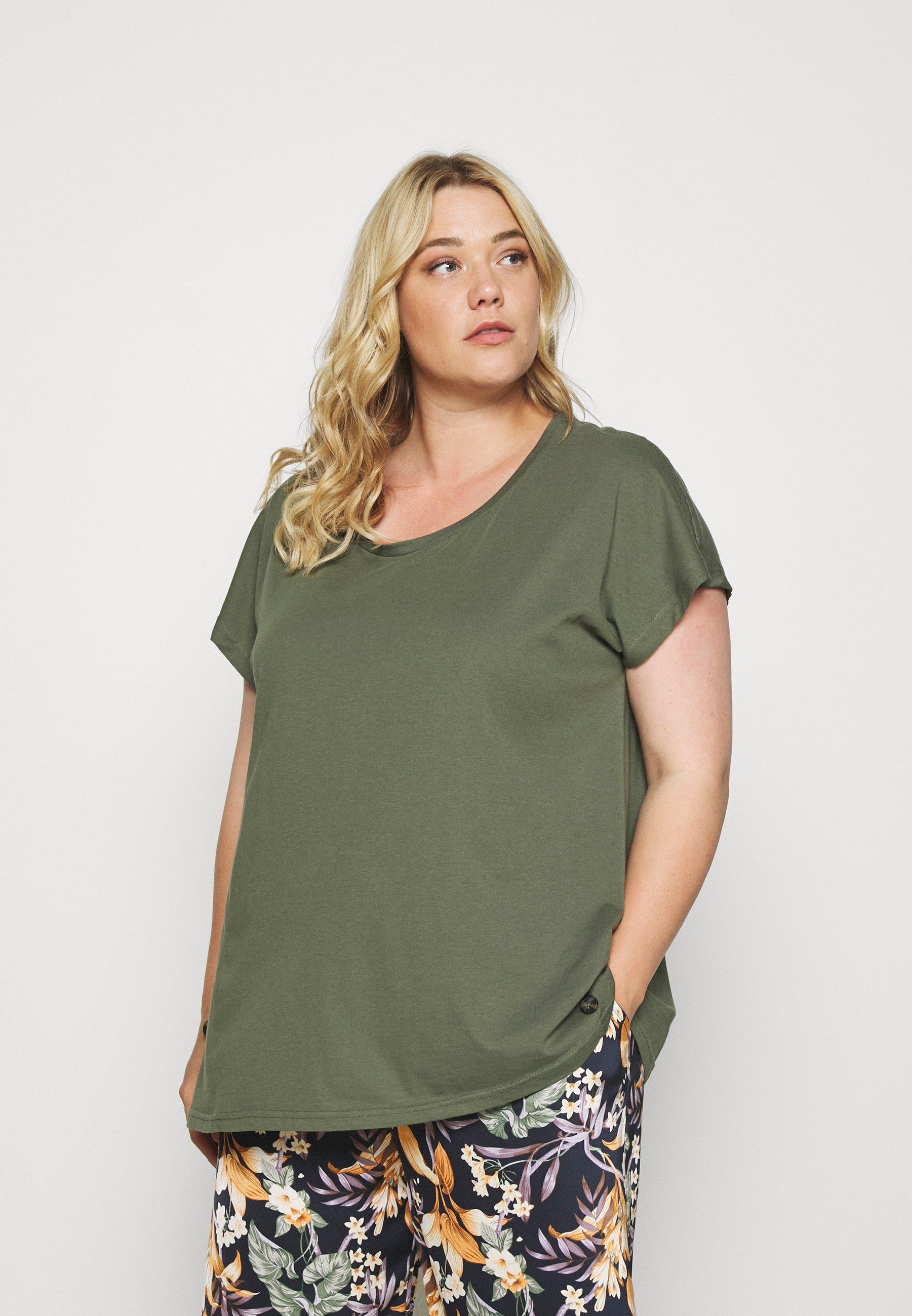 Women EFANNEY BUTTON TEE - Basic T-shirt