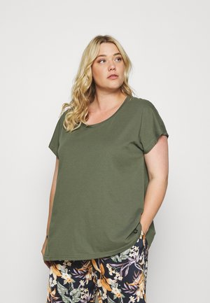 EFANNEY BUTTON TEE - Basic T-shirt - thyme