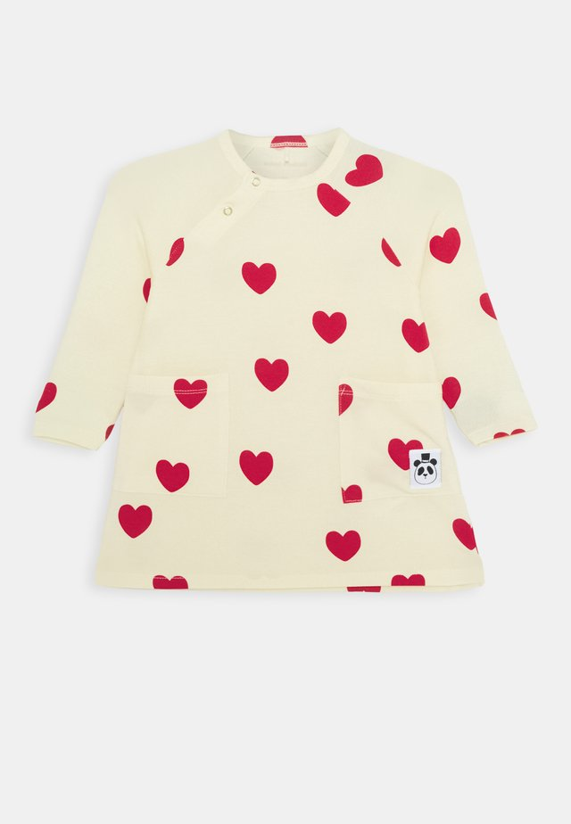 BABY HEARTS DRESS  - Vestito di maglina - offwhite