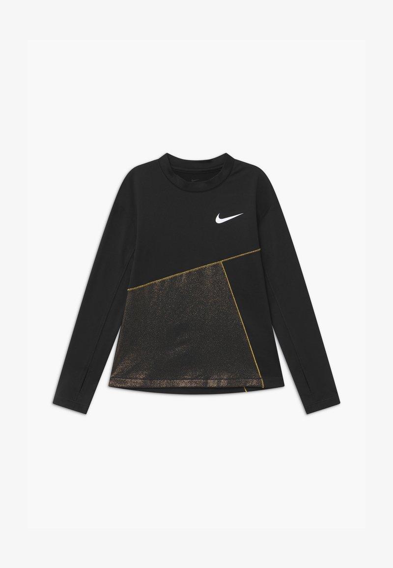 Nike Performance - Funkční triko - black/gold