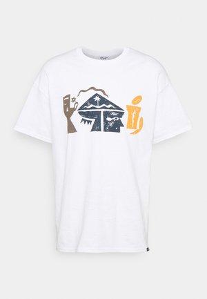 CRYPTOGRAMS GRAPHIC - T-shirt imprimé - white