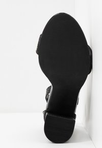 Miss Selfridge Wide Fit - WIDE FIT STEPH BLOCK HEEL BARELY THERE - High heeled sandals - black - 6