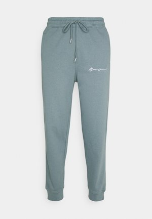 UNISEX ESSENTIAL SLIM FIT SIGNATURE  - Träningsbyxor - dark green