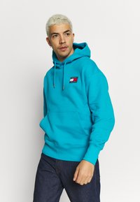 Tommy Jeans - BADGE HOODIE UNISEX - Sweat à capuche - exotic teal - 0