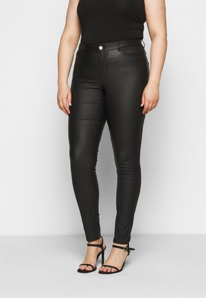 JRFOUR COATED PANTS - Skinny-Farkut - black