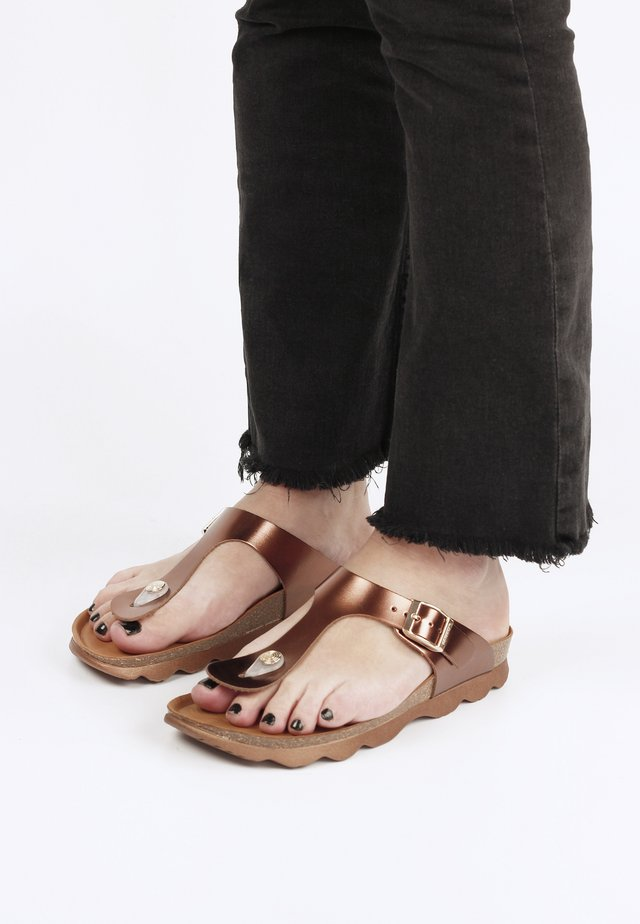 Sandaler m/ tåsplit - bronze