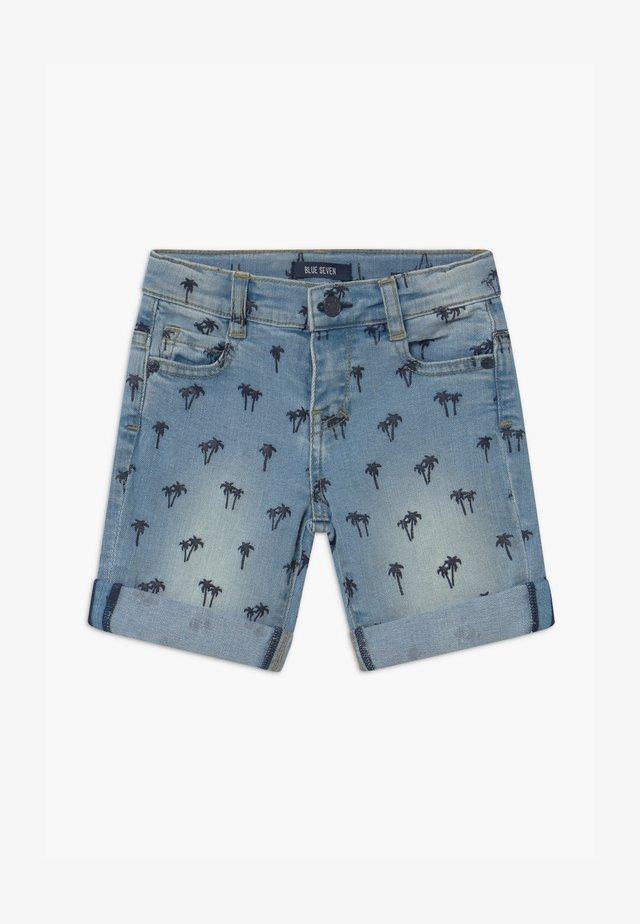 SMALL BOYS PALM TREE - Denim shorts - jeansblau