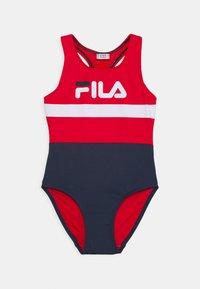 Fila - MARIE SWIMSUIT SWIMWEAR - Swimsuit - black iris/true red/bright white - 0